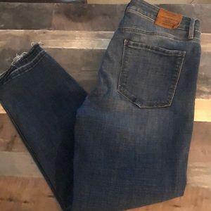 Lucky Brand Hayden crop released hem mid rise jean